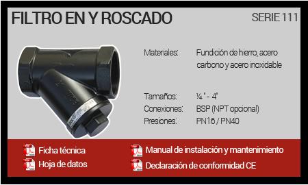 Filtro en Y Roscado - Serie 111