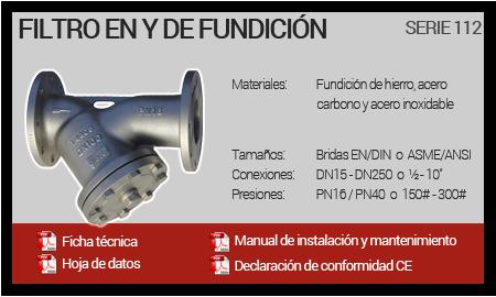 Filtro en Y de Fundición - Serie 112