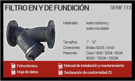 Filtro en Y de Fundición - Serie 113
