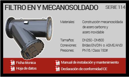 Filtro en Y Mecanosoldado - Serie 114