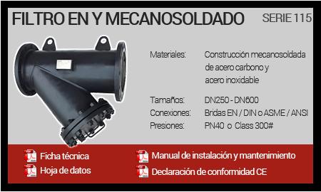 Filtro en Y Mecanosoldado - Serie 115