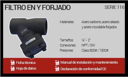Filtro en Y Forjado - Serie 116
