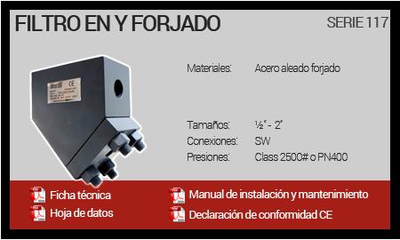 Filtro en Y Forjado - Serie 117