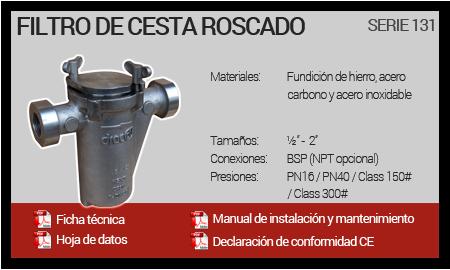 Filtro de Cesta Roscado - Serie 131