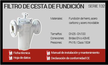 Filtro de Cesta de Fundición - Serie 132