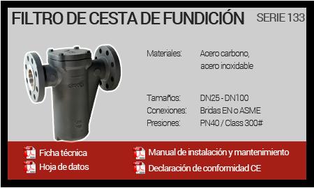 Filtro de Cesta de Fundición - Serie 133