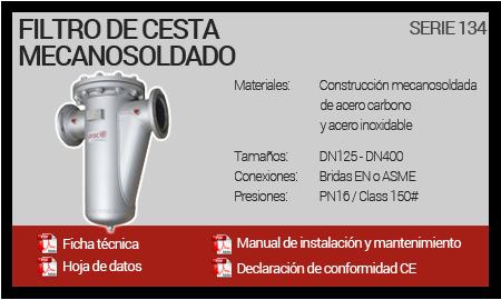 Filtro de Cesta Mecanosoldado - Serie 134