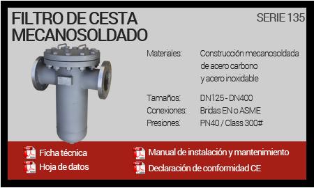 Filtro de Cesta Mecanosoldado - Serie 135