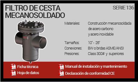 Filtro de Cesta Mecanosoldado - Serie 136