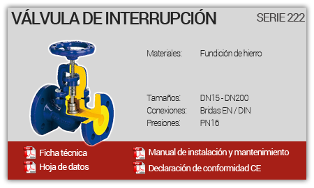 Válvula de interrupción - Serie 222