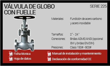 Válvula de Globo con Fuelle - Serie 225