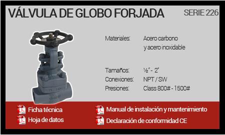 Válvula de Globo Forjada - Serie 226