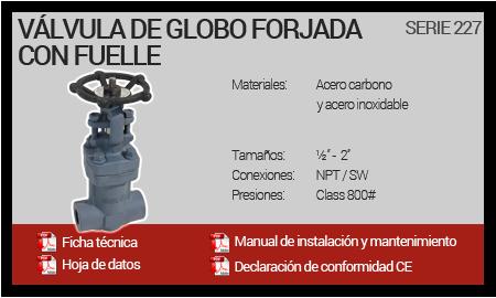 Válvula de Globo Forjada con Fuelle - Serie 227