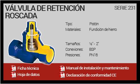 Válvula de Retención Roscada - Serie 231