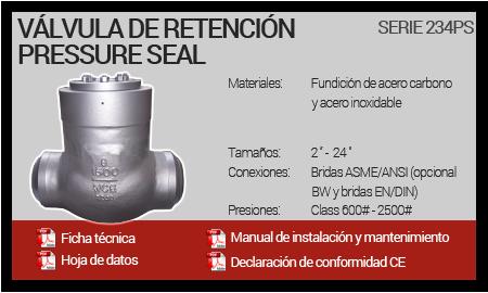 Válvula de Retención Pressure Seal - Serie 234PS