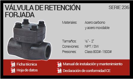 Válvula de Retención Forjada - Serie 236
