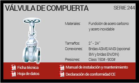 Válvula de Compuerta - Serie 244