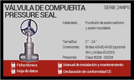 Válvula de Compuerta Pressure Seal - Serie 244PS