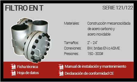 Filtro en T - Serie 121-122