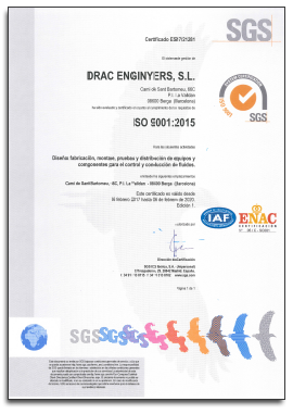 Certificado ISO - DRAC ENGINYERS